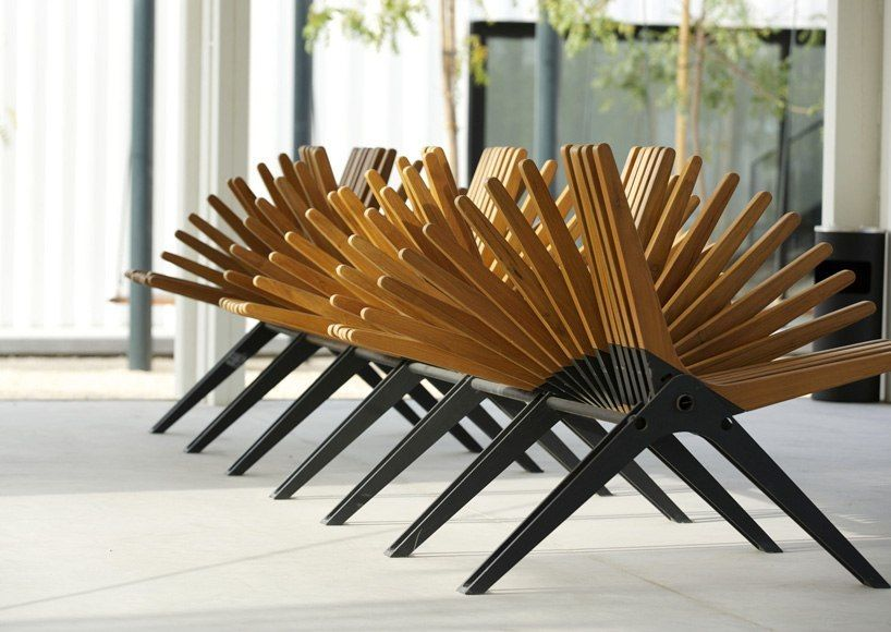 anna szonyi fans boomerang bench for the dubai design district