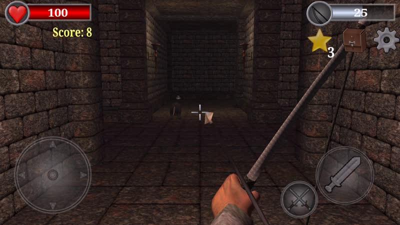 Смертельная битва продолжается в опасном лабиринте подземелий скелетов воинов