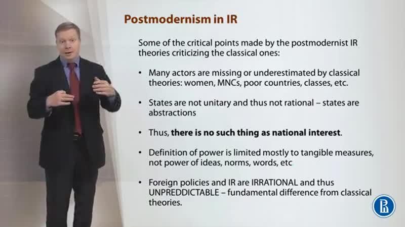 03 Critical IR theories , Postmodernism