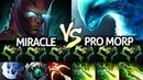 MIRACLE Terrorblade VS Pro Morphling - Battle of Agi Carry 7.22 Dota 2
