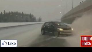 Необычное авария (ДТП) на дороге