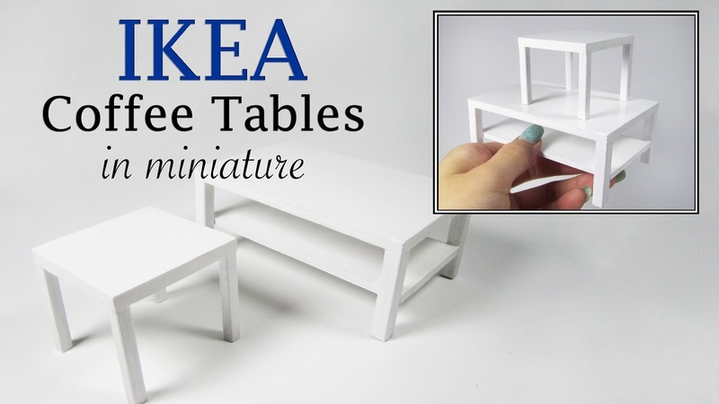 DIY Miniature IKEA Coffee Tables Tutorial