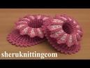Crochet Floral Baby Booties Tutorial 65 Part 1 of 2 Chaussons bébé au crochet