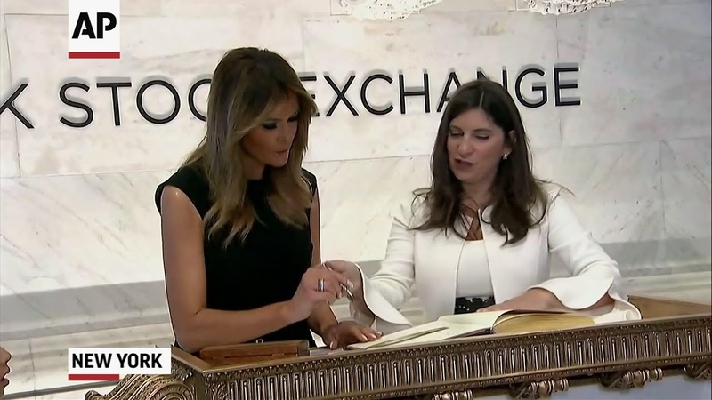 First Lady Melania Trump opens trading at NYSE