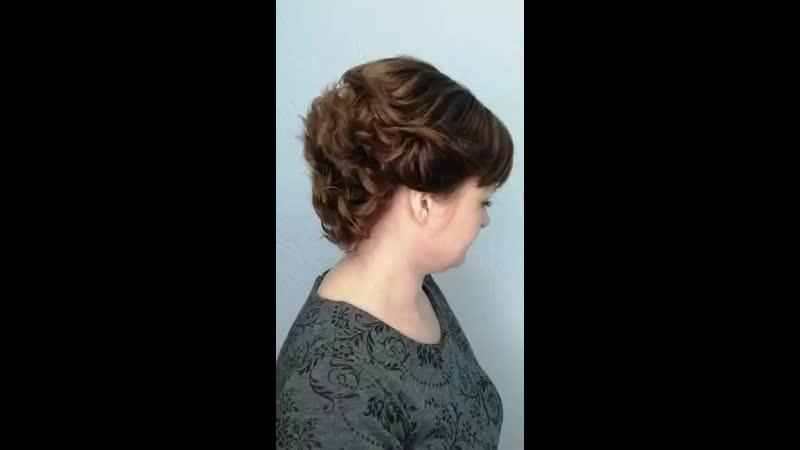 укладка на среднюю длину волос