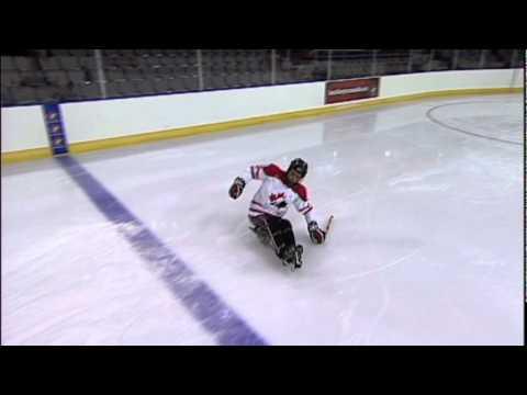 Sledge Hockey Skills Stopping
