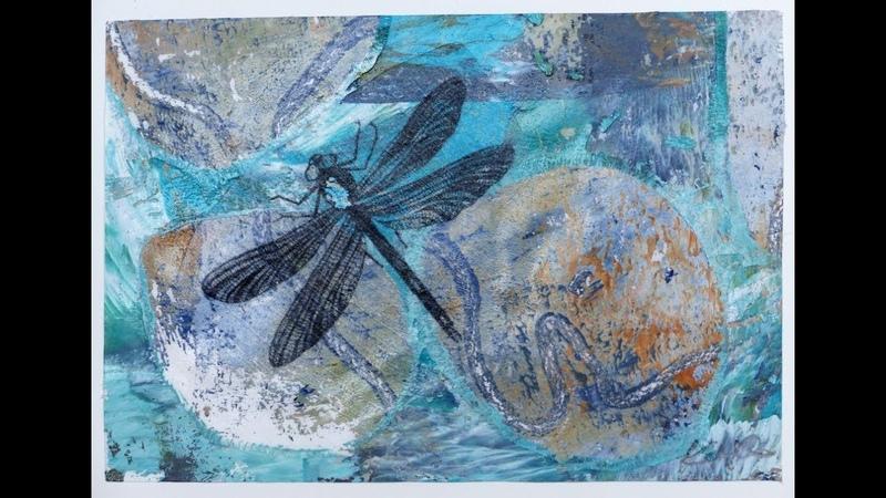 Alice-ART, Ideen für Gelatine-Drucke (1), What to do with Gelli Prints (1) Photo Transfer