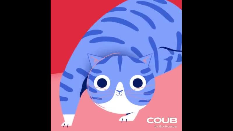 Cartoon Vine Shaq vs the Wiggle Cat