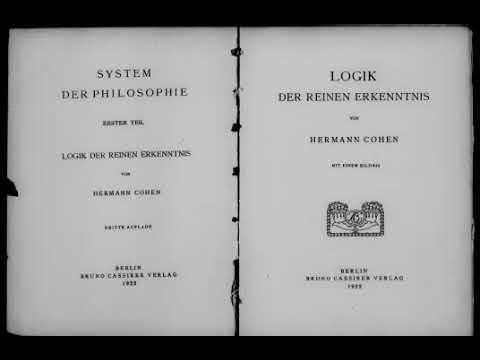 Герман Коген Логика чистого познания Предисловие