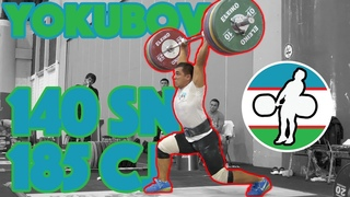 Doston Yokubov Heavy Training (185kg Clean and Jerk + 140 Snatch + 205 BS) - Asian Games [4k 50]