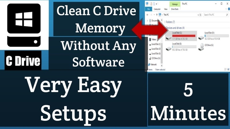 How to Clean C-Drive Storage Very Easy Without Any Software | Clean C-Drive Memory
