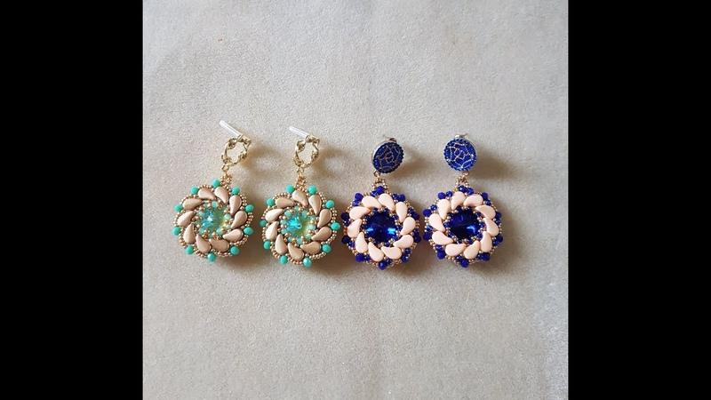 Tutorial Orecchini Roses con paisley cipollotti e rocailles DIY roses earrings orecchini tondi