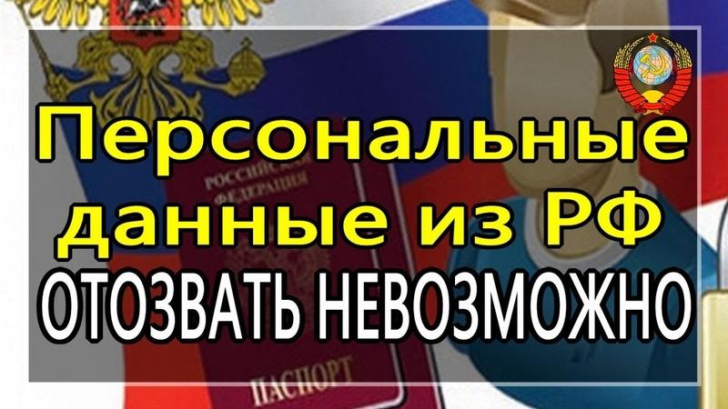 Система учета физ лиц РФ интегрирована во всемирную базу данных 20 05 2020