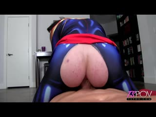 TSPOV - Aubrie Scarlett Captain Marvel Submits To A Big Dick