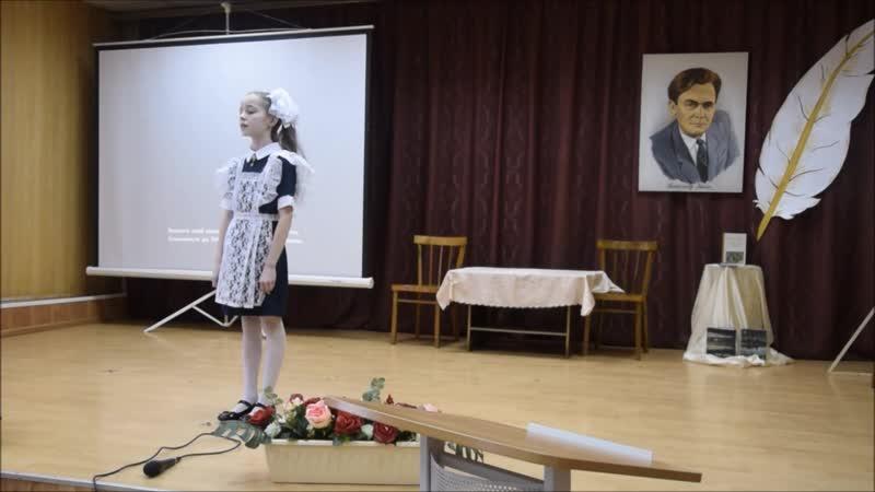 Барболина Даша читает стихотворение Маргариты Алигер Праздники в Никольске Районный конкурс чтецов март 2020 г