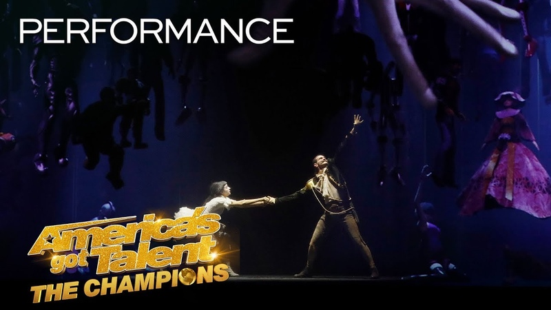 Freckled Sky Creates A STUNNING Story With Projections Dance America's Got Talent The Champions