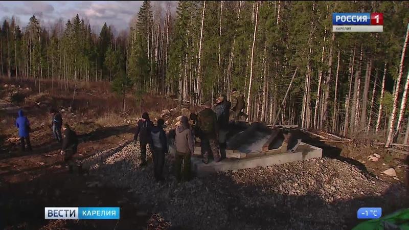 В Пряжинском заложили фундамент будущей часовни