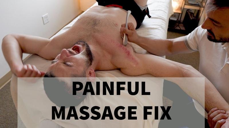 Deep Tissue Massage | Black Belt in Jiu Jitsu Gets the Works!