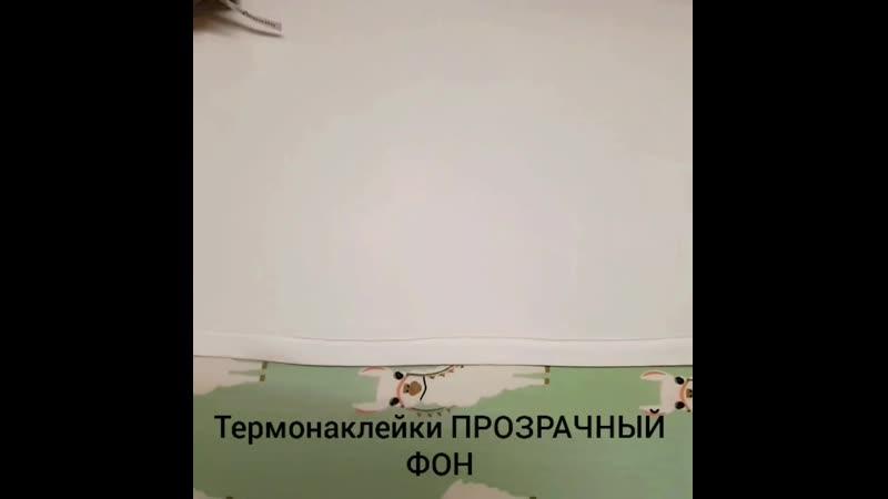 Инструкция по нанесению термоэтикеток для СВЕТЛОЙ ОДЕЖДЫ прозрачный фон