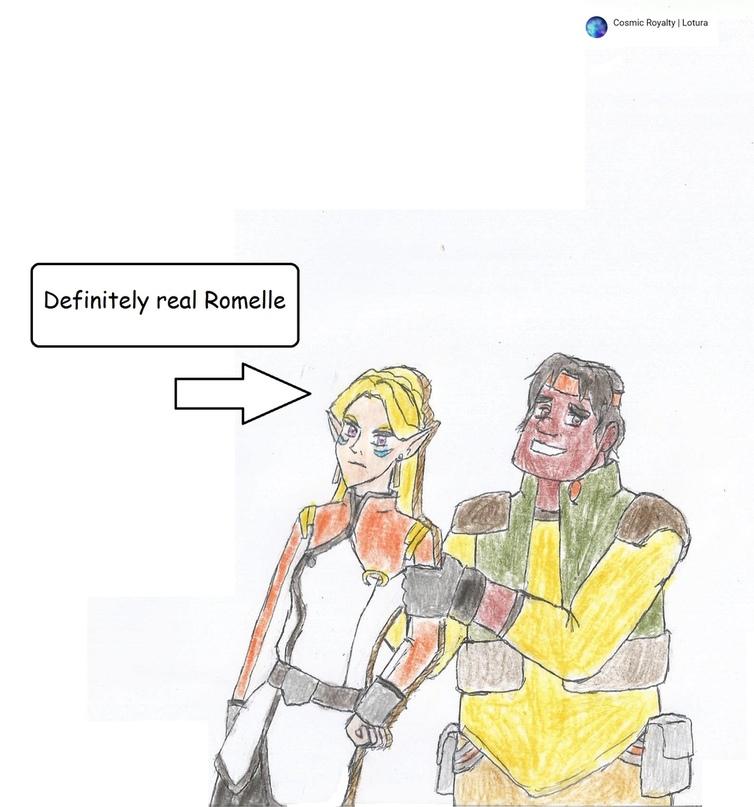 Определённо настоящая Ромелль, а не картонка, нет-нет!