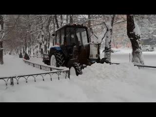 Снегопад в Комсомольске-на-Амуре
