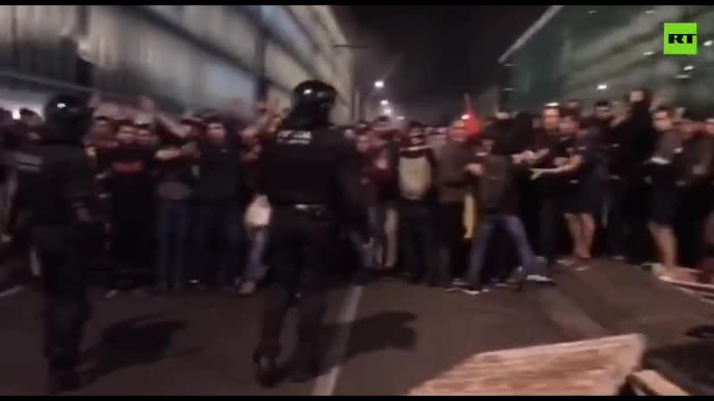 Протесты в Барселоне. 16 октября 2019-го.