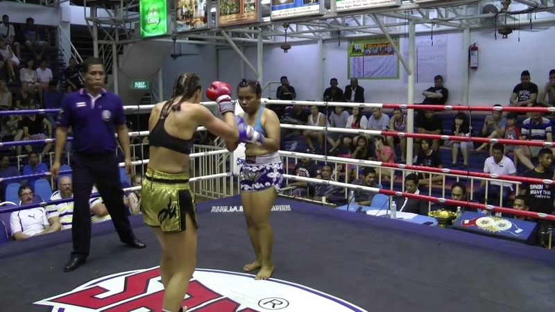 Wendy (Sinbi Muay Thai- Red Corner) fights at Bangla Stadium- 09.12.2016
