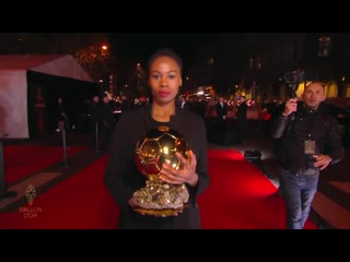 The ballon dor trophy is brought by @fiatfr ballondor