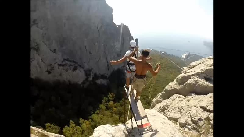 Макс Фесенко Ильяс-Кая Rope Jumping with Skyline X-Team in Crimea.mp4