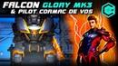War Robots Falcon Glory MK3 Дерзкий Танк Фалькон с Легендарным Пилотом Разваливает Кабины
