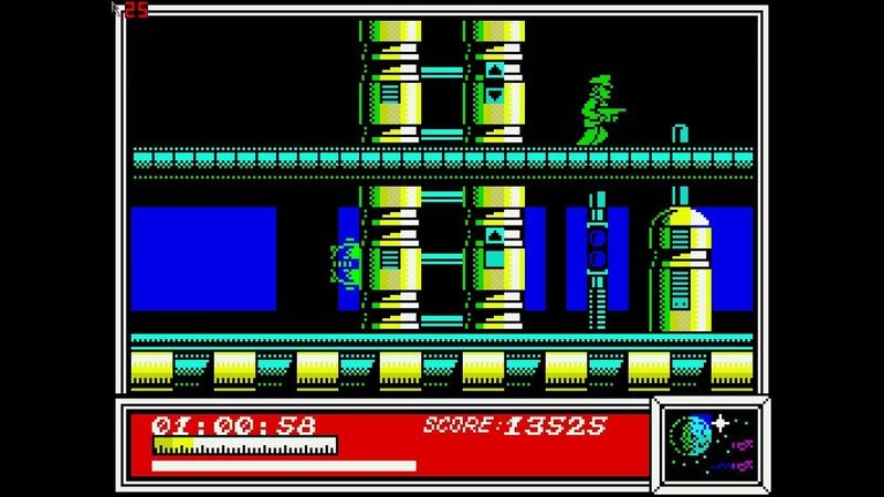 Игра Dan Dare ZX Spectrum на эмуляторе
