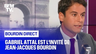 Gabriel Attal face à Jean-Jacques Bourdin en direct