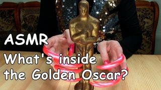 ASMR SOUND MUKBANG EATING WHAT'S INSIDE THE GOLDEN OSCAR PRANK