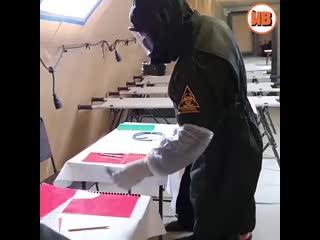 Работа военных медиков в полевом госпитале в Дагестане