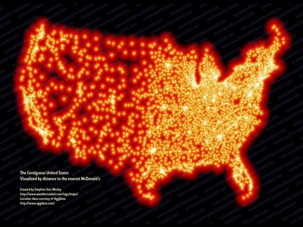 Американская теплокарта сети McDonalds
