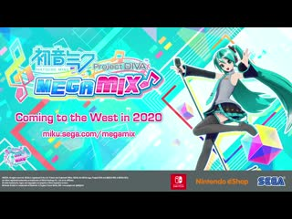 Hatsune Miku: Project DIVA Mega Mix - Announcement Trailer - Nintendo Switch