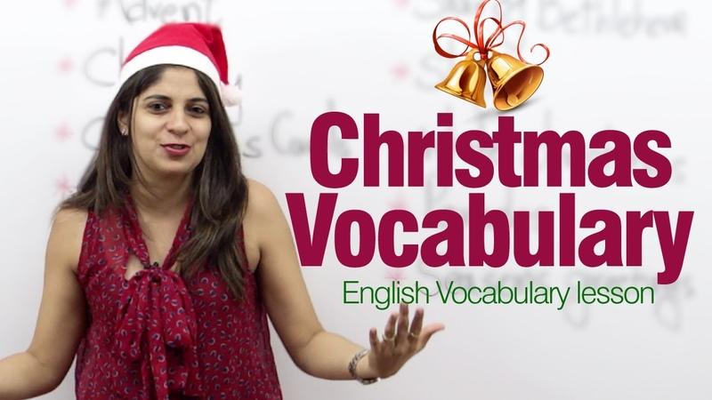 Christmas Vocabulary English lesson on Christmas