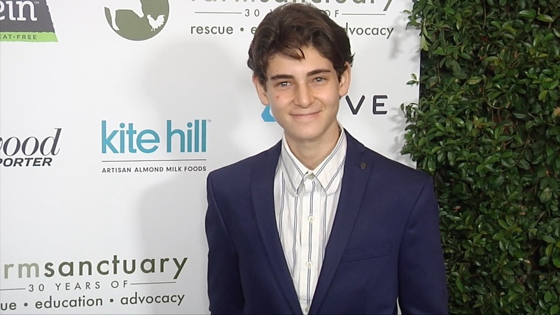 David Mazouz Farm Sanctuary's 30th Anniversary Gala Green Carpet