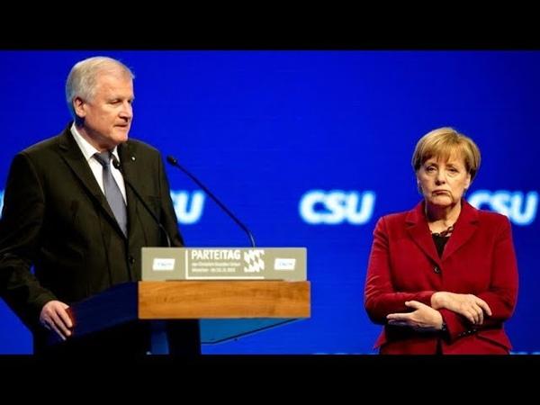 Horst Seehoer, Angela Merkel EU-Italien