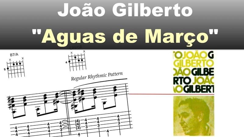 Aguas de Março João Gilberto Virtual Guitar Transcription by Gilles Rea