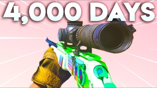 I sniped for 4,000 days in a row, and this was the outcome on Modern Warfare...