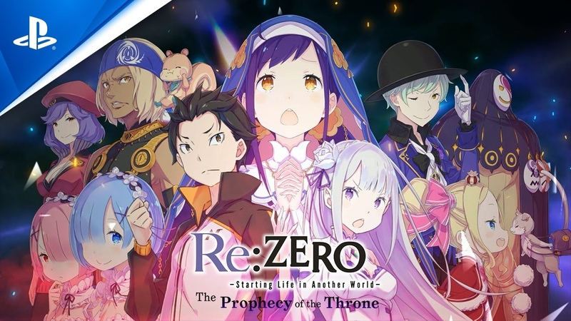 Re ZERO Starting Life in Another World The Prophecy of the Throne Character Trailer PS4