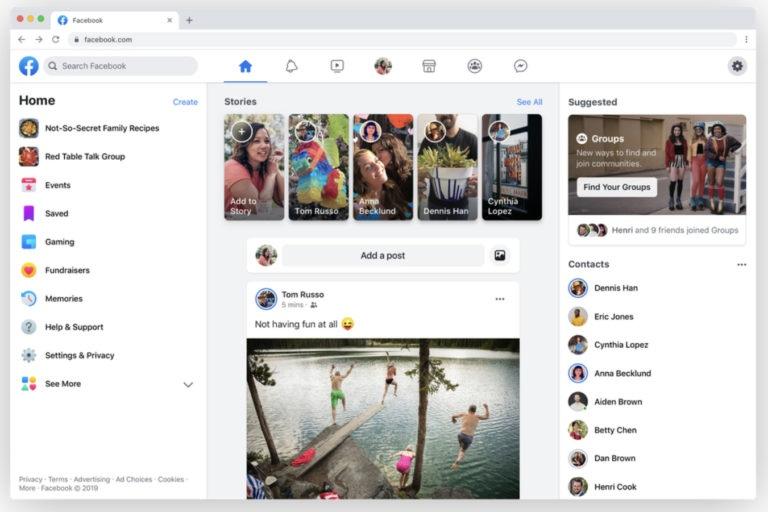 Facebook готовится запустить редизайн браузерной версии сайта, изображение №1