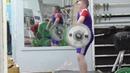 Новокрещенов Тимофей 12 лет нНа гудь в сед с плинтов 45 кг на 2 раза