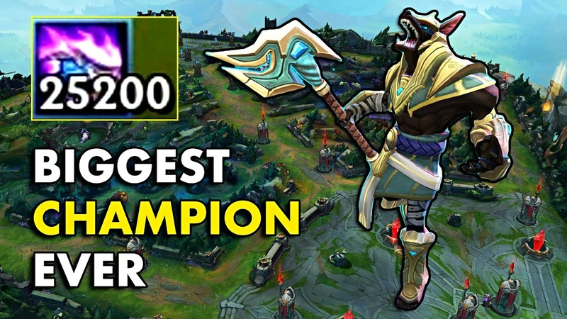BIGGEST CHAMPION EVER Nasus with 25200 Stacks