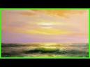 Морской пейзаж маслом Рассвет Урок живописи для начинающих Южаков
