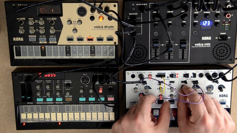 Space a deep melodic techno jam on Volca Drum | FM | Modular