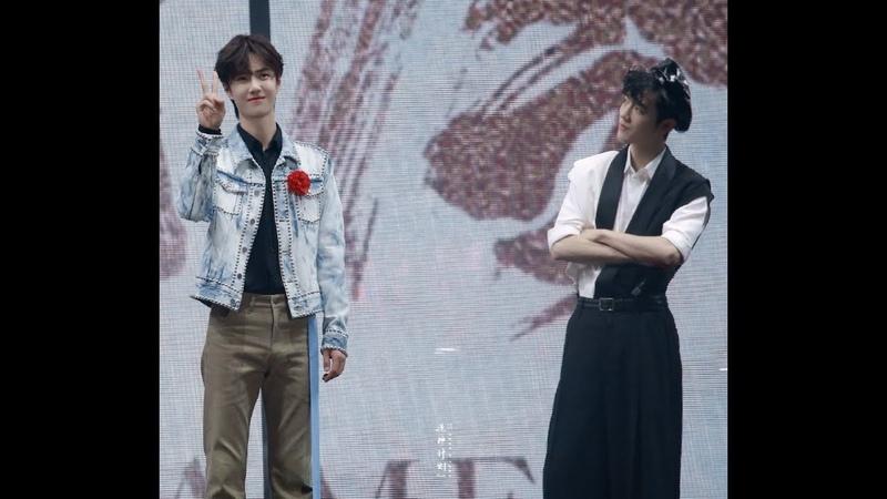 [Fancam   191101] Wang Yibo và hình phạt thua game (Doing 5 cute poses) x Tiêu Chiến reaction