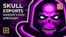 Skull Mascot Esports Logo In Adobe Illustrator Speed Art Sold