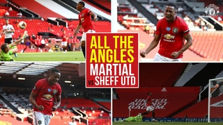 All the Angles | Martial seals his hat-trick v Sheffield United! | Manchester United
